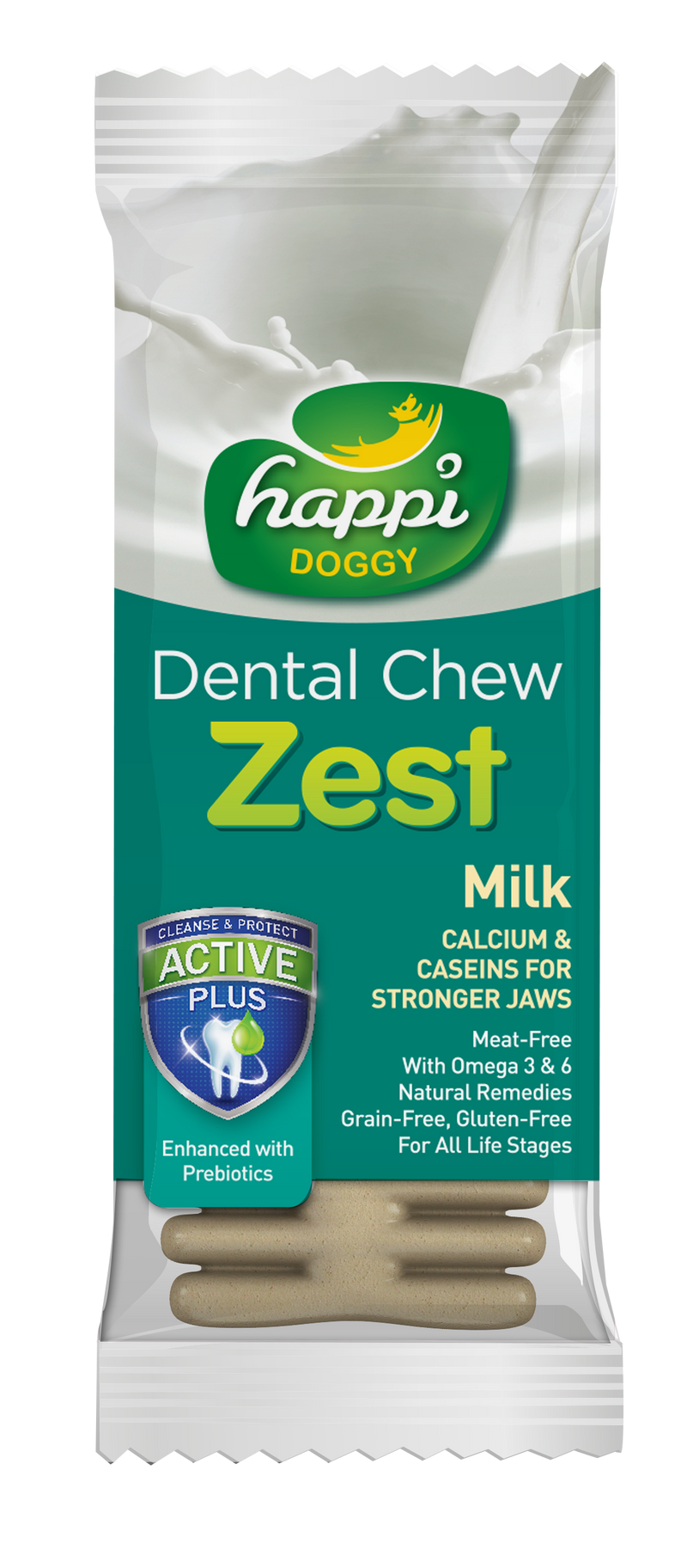 Happi Doggy Dental Chew Zest Milk 4''