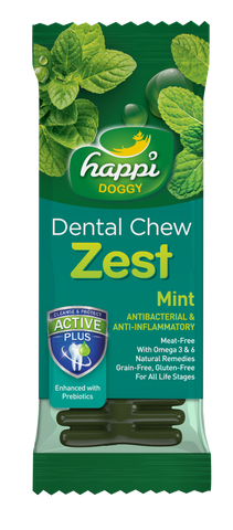 Happi Doggy Dental Chew Zest Mint 4''