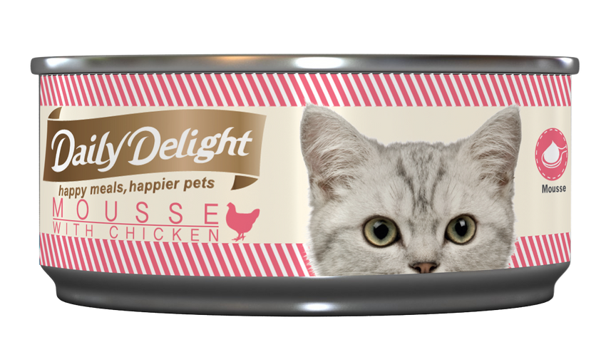 Daily Delight Mousse with Chicken Canned Cat Food (80g)