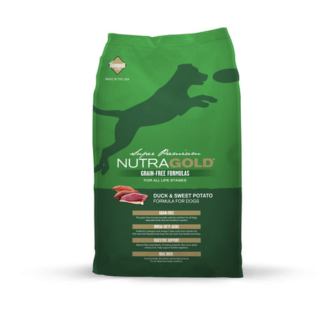 NutraGold Grain Free Duck & Sweet Potato (2.25kg/13.6kg)