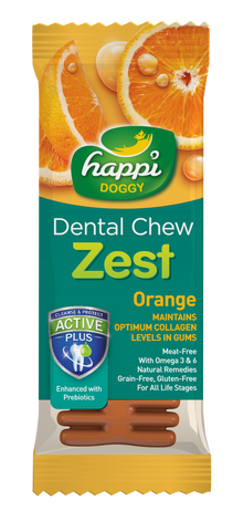 Happi Doggy Dental Chew Zest Orange 4''