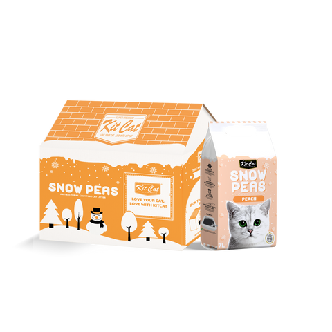 Kit Cat Snow Peas Cat Litter (7L) - Peach