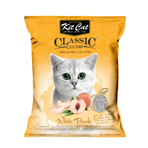 Kit Cat Classic Clump Cat Litter (10L/7kg) - White Peach