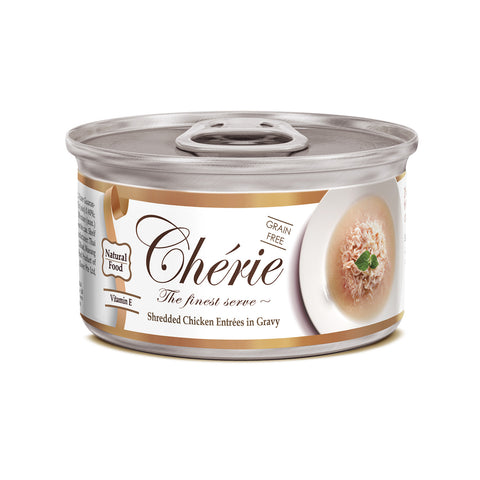 Chérie, Shredded Chicken Entrées in Gravy (80g)