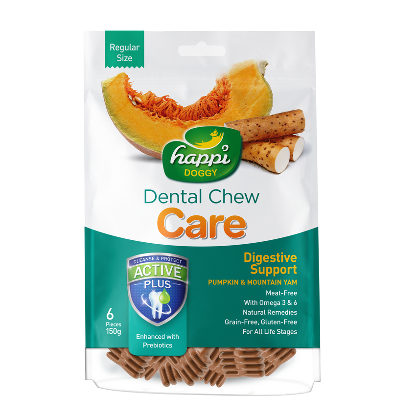 "Happi Doggy Dental Chew Care (Digestive Support) 4"" - 150g"