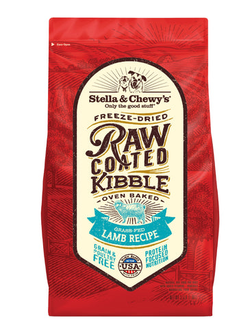 Stella & Chewy's - Grass-Fed Lamb Raw Coated Kibble Dry Dog Food (1.6kg/10kg)