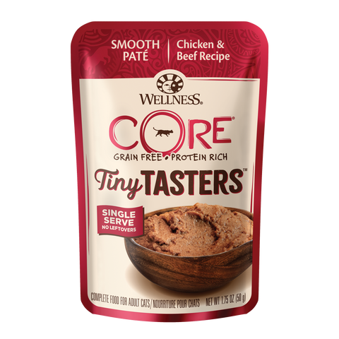 Wellness Core Tiny Tasters Cat Wet Food - Chicken & Beef (50g)