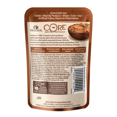 Wellness Core Tiny Tasters Cat Wet Food - Chicken & Turkey (50g)