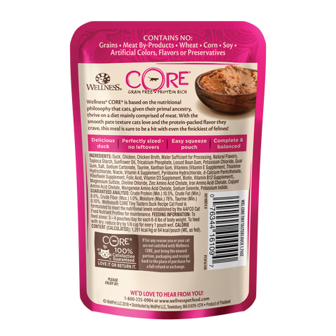 Wellness Core Tiny Tasters Cat Wet Food - Duck (50g)
