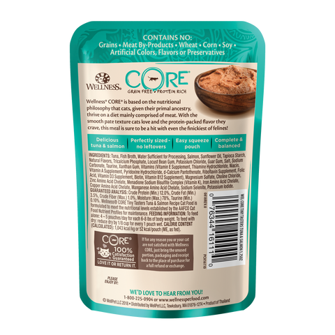 Wellness Core Tiny Tasters Cat Wet Food - Tuna & Salmon (50g)