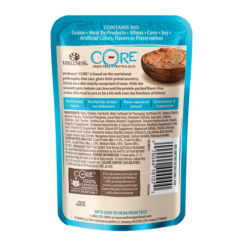 Wellness Core Tiny Tasters Cat Wet Food - Tuna (50g)