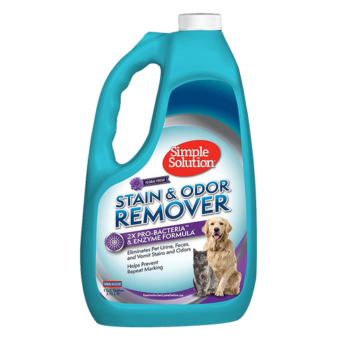 Simple Solution Extreme Stain & Odour Remover for Dogs & Cats (945ml/3.75l) - Floral Fresh Scent