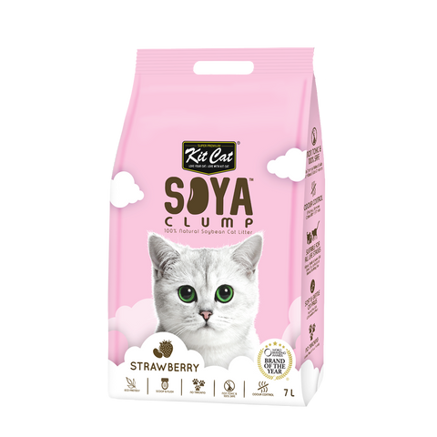 Kit Cat Soya Clump Cat Litter (7L) - Strawberry