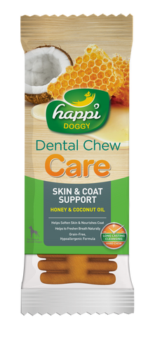 Happi Doggy Dental Chew Care (Skin & Coat Support) - 4 inch
