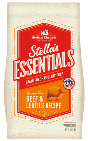 Stella & Chewy's - Stella's Essentials Grain-Free Beef & Lentils Recipe Dry Dog Food (1.4kg/11.3kg)