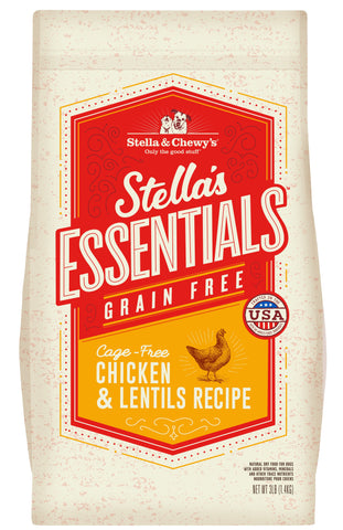 Stella & Chewy's - Stella's Essentials Grain-Free Chicken & Lentils Recipe Dry Dog Food (1.4kg/11.3kg)