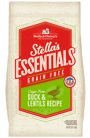Stella & Chewy's - Stella's Essentials Grain-Free Duck & Lentils Recipe Dry Dog Food (1.4kg/11.3kg)
