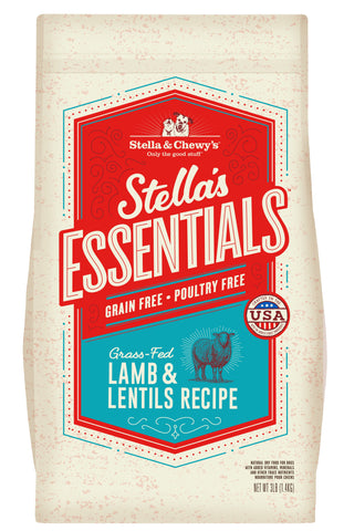 Stella & Chewy's - Stella's Essentials Grain-Free Lamb & Lentils Recipe Dry Dog Food (1.4kg/11.3kg)