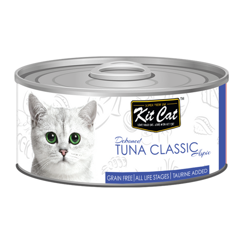 Kit Cat Deboned Tuna Classic Aspic Canned Food (80g)