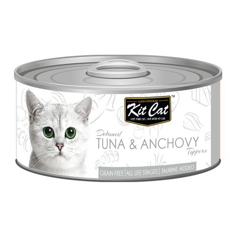 Kit Cat Deboned Tuna & Anchovy Toppers Canned Food (80g)