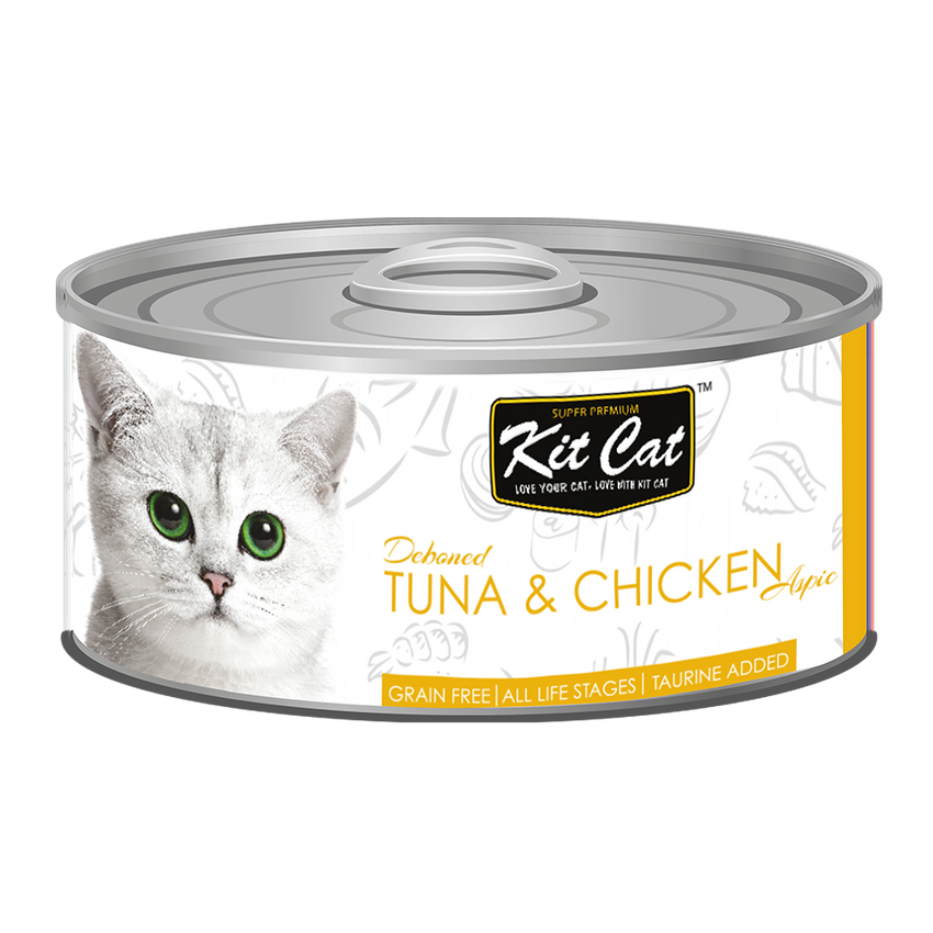Kit Cat Deboned Tuna & Chicken Aspic Canned Food (80g)