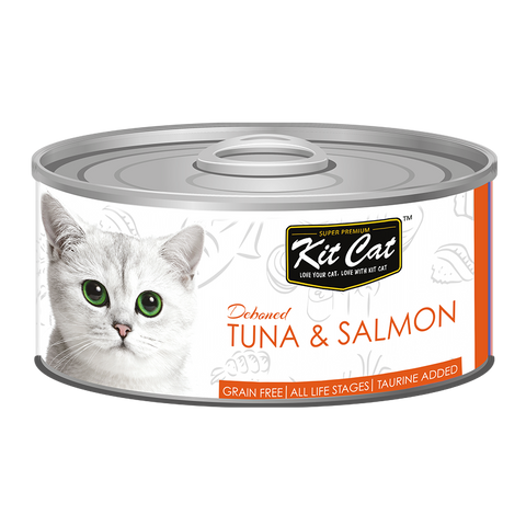 Kit Cat Deboned Tuna & Salmon Canned Food (80g)