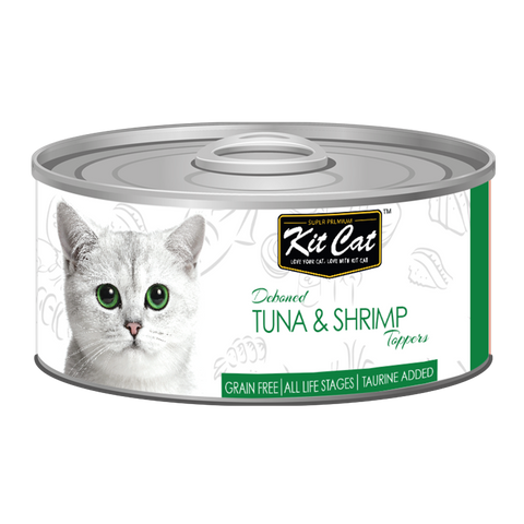 Kit Cat Deboned Tuna & Shrimp Toppers Canned Food (80g)