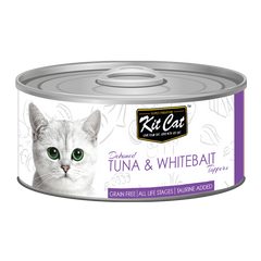 Kit Cat Deboned Tuna & Whitebait Toppers Canned Food (80g)