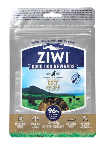 ZIWI Lamb Good Dog Rewards Beef Pouch (85g)