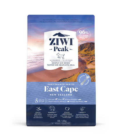 ZIWI Peak Provenance East Cape Air-Dried Dog Food (140g/900g/1.8kg)