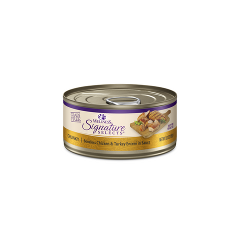 Wellness Core Signature Selects Cat Canned Food - Chunky Chicken & Turkey (150g)