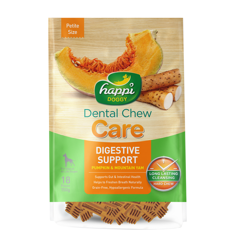 Happi Doggy Dental Chew Care (Digestive Support) - Petite Size 2.5 inch [150g]