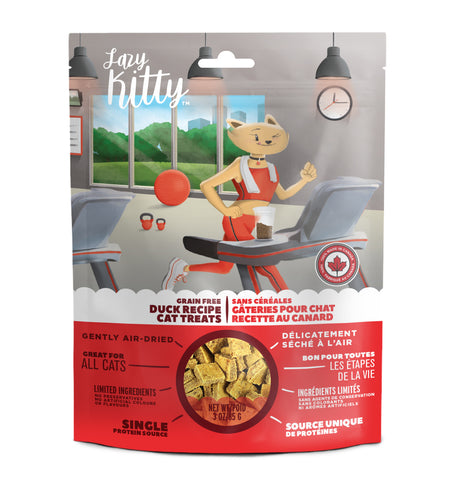 Lazy Kitty - Duck Recipe Air-Dried Grain-Free Cat Treats (85g)