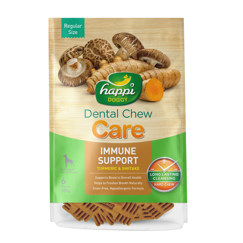 Happi Doggy Dental Chew Care (Immune Support) - Regular 4 inch [150g]