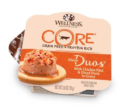Wellness Core Divine Duo - Chicken Pate with Diced Duck Cat Wet Food