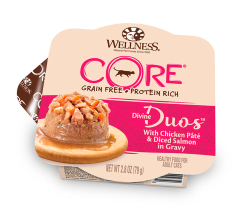 Wellness Core Divine Duo - Chicken Pate with Diced Salmon Cat Wet Food