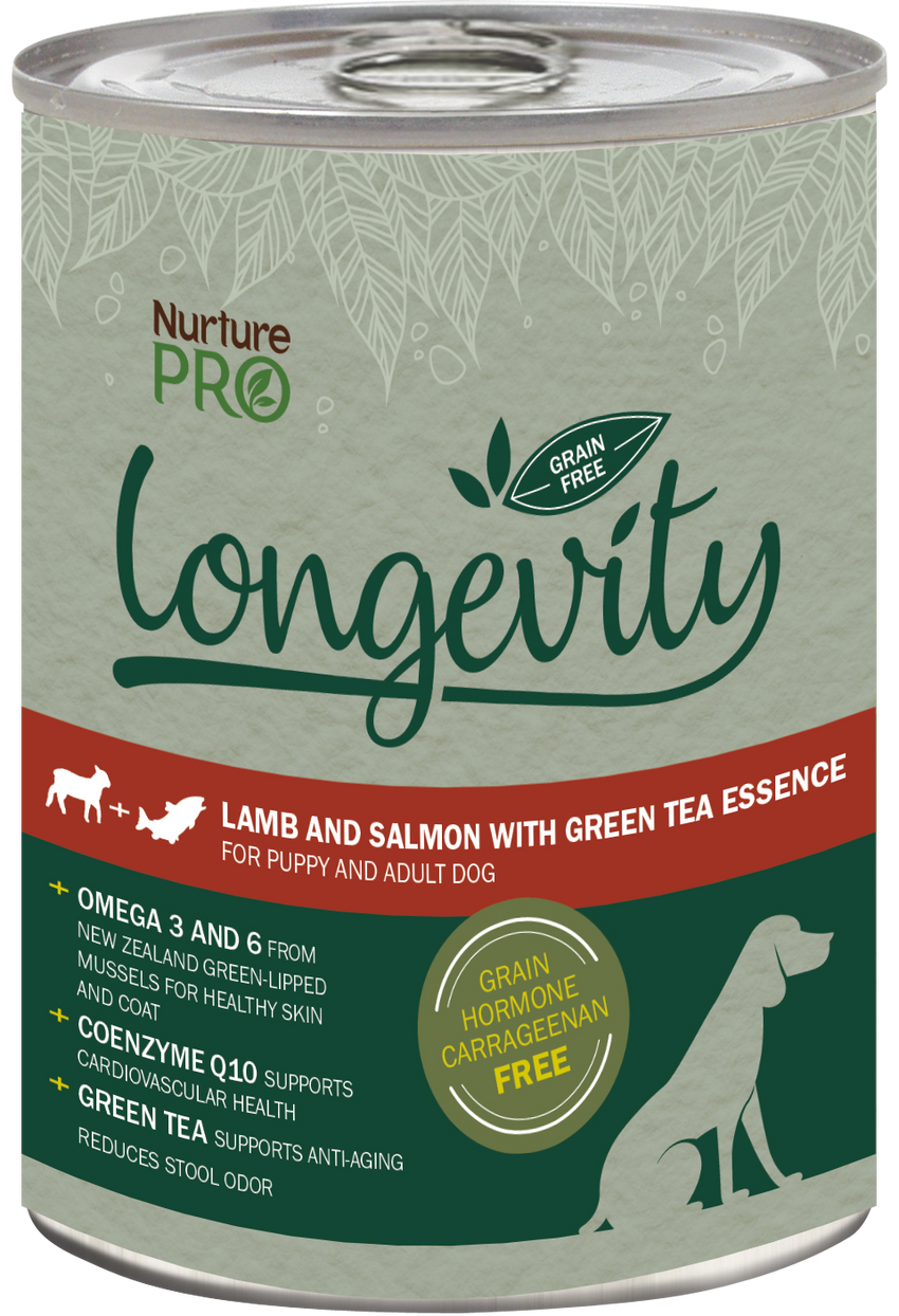 Nurture Pro Longevity Lamb and Salmon with Green Tea Essence (375g)