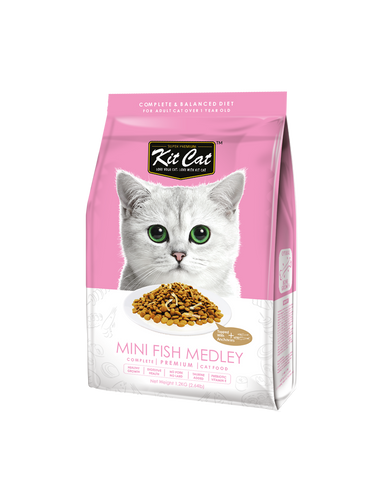 Kit Cat Premium Cat Food - Mini Fish Medley (2 sizes)