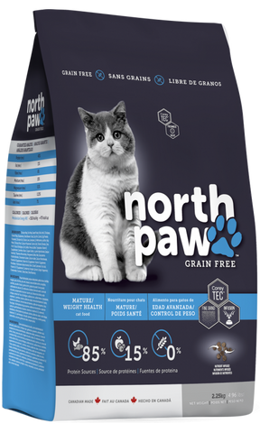 North Paw Grain Free Mature/Weight Health Cat Food (2.25kg)