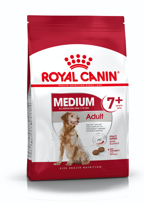 Royal Canin - Medium Adult 7+ Dry Dog Food (10kg)