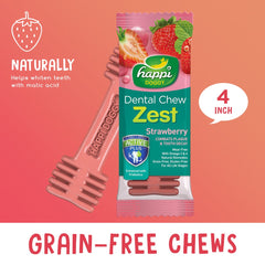Happi Doggy Dental Chew Zest Strawberry 4''