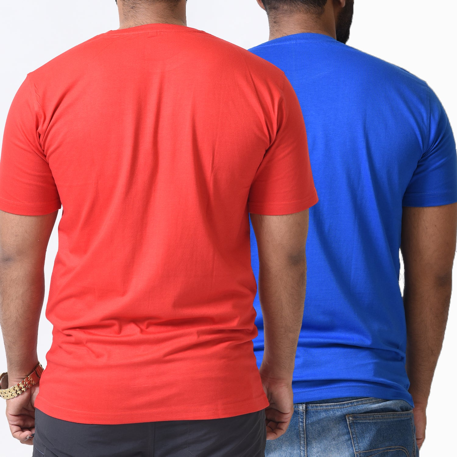 BASIC COMBO TSHIRT RED & ROYAL BLUE