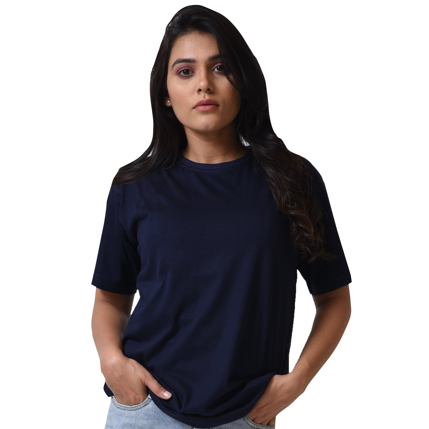 BASIC COMBO WOMEN TSHIRT NAVY BLUE & MAROON
