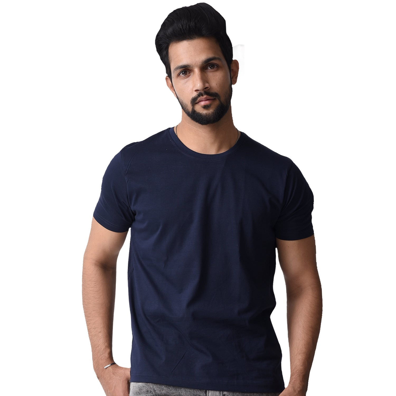 BASIC COMBO TSHIRT NAVY BLUE & WHITE