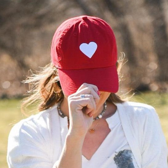 SALE With Heart Red Hat