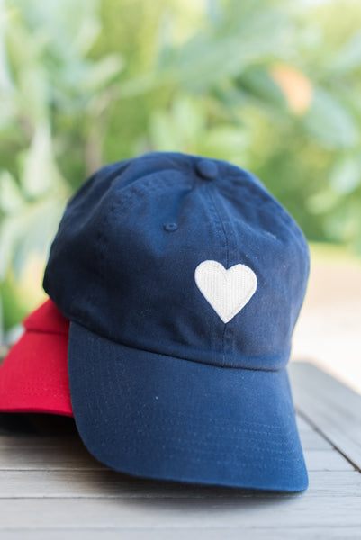 With Heart Navy Hat