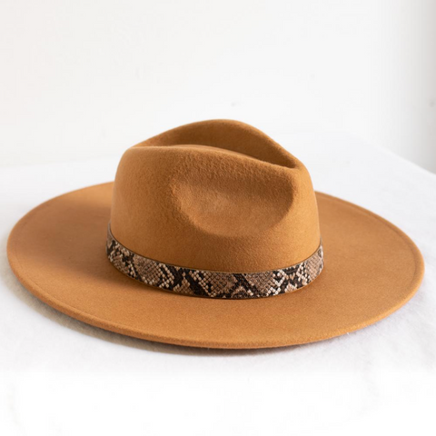 Ellie Wide Brim Hat - Cinnamon
