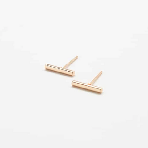 Dainty Gold Bar Studs