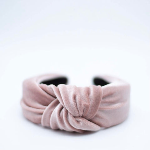 Velvet Knotted Headband - Dust Rose