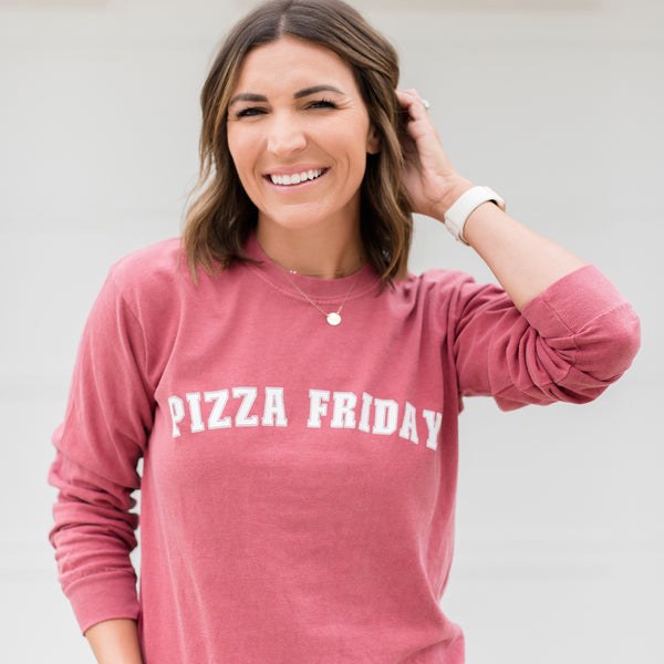 Pizza Friday Unisex Long Sleeve Tee